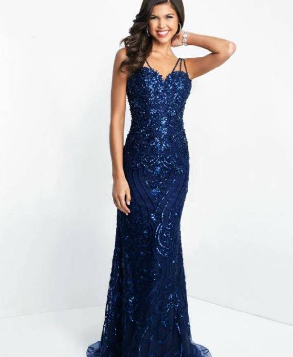 Lady In Blue Prom Dress