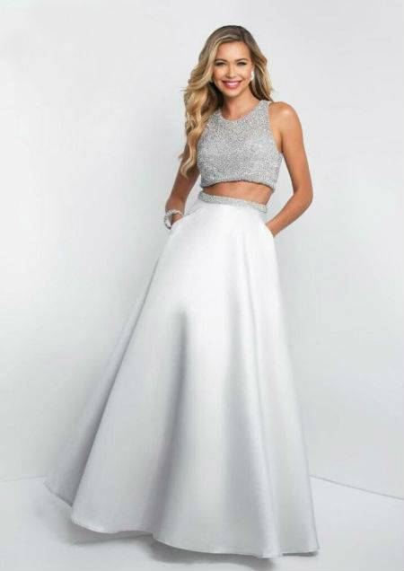 Lady In White Prom Dress