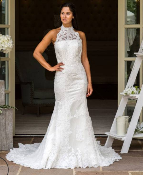 Lady in White Wedding Dress