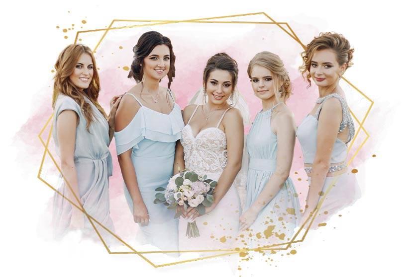 BRIDESMADES AND BRIDE